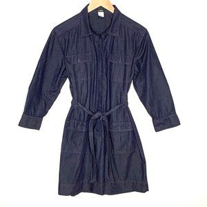 J Crew Denim Shirt Dress Womens Size Medium